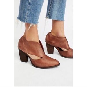 Free People x Jeffrey Campbell Deep V Booties